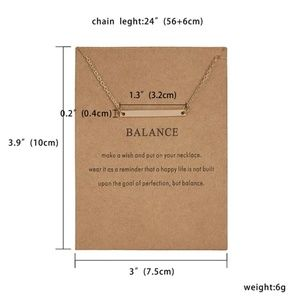 💥[2 for $10]💥 Balance Bar Necklace